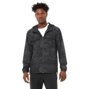 Alo Yoga Black Camouflage Stride Jacket Small